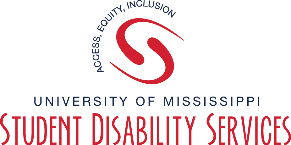 Picture shows Student Disability Services Logo highlighting Access, Equity, and Inclusion.